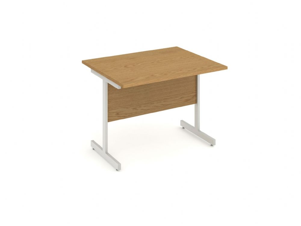Cantilever End Return Desk|1000mm|Available in Beech, Maple, Oak, Light Walnut & White Finish